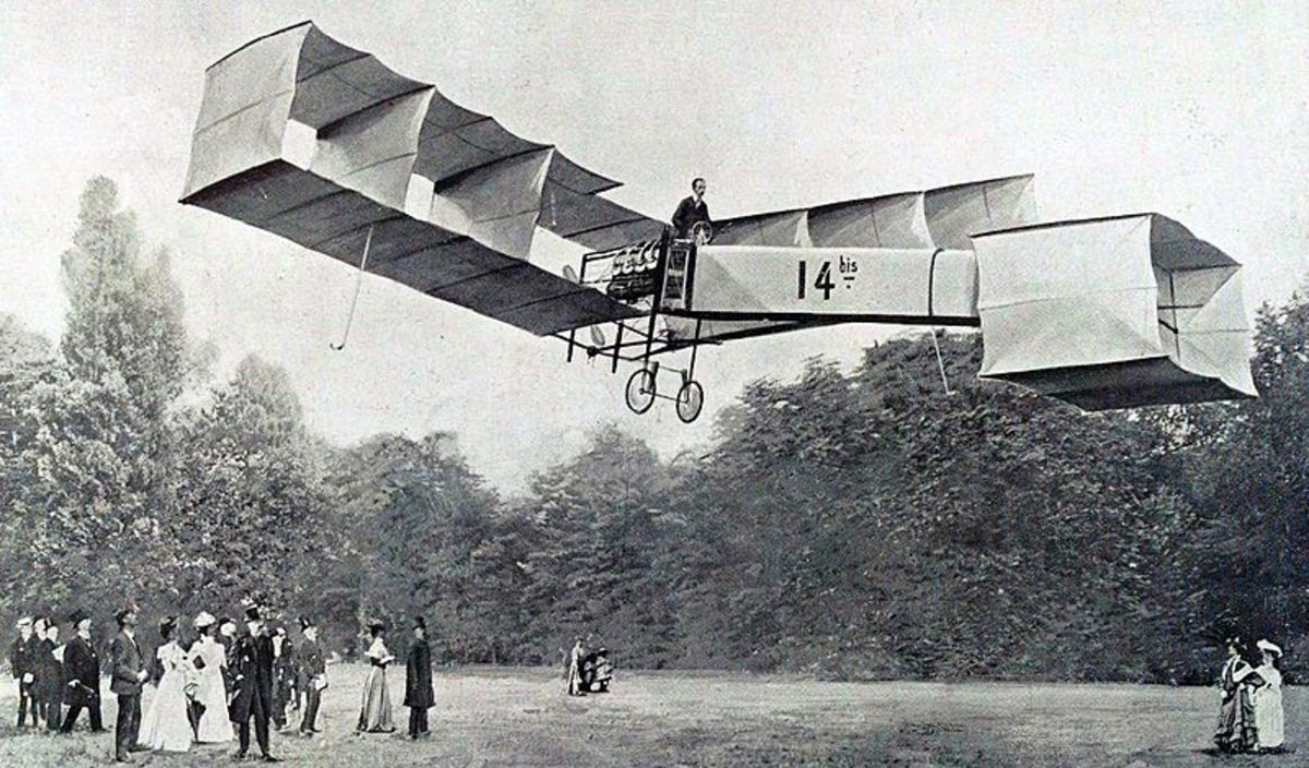 This ungainly machine was the first to take off and land under its own power.