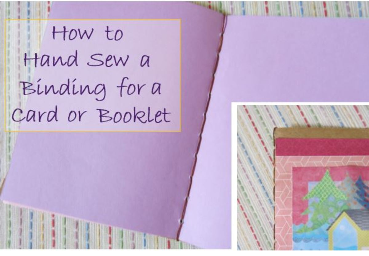 How to Hand Sew a Binding For Your Card or Booklet