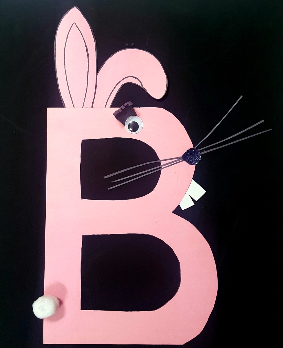 """B"" Is for Bunny (Alphabet Paper Craft for Kids)"