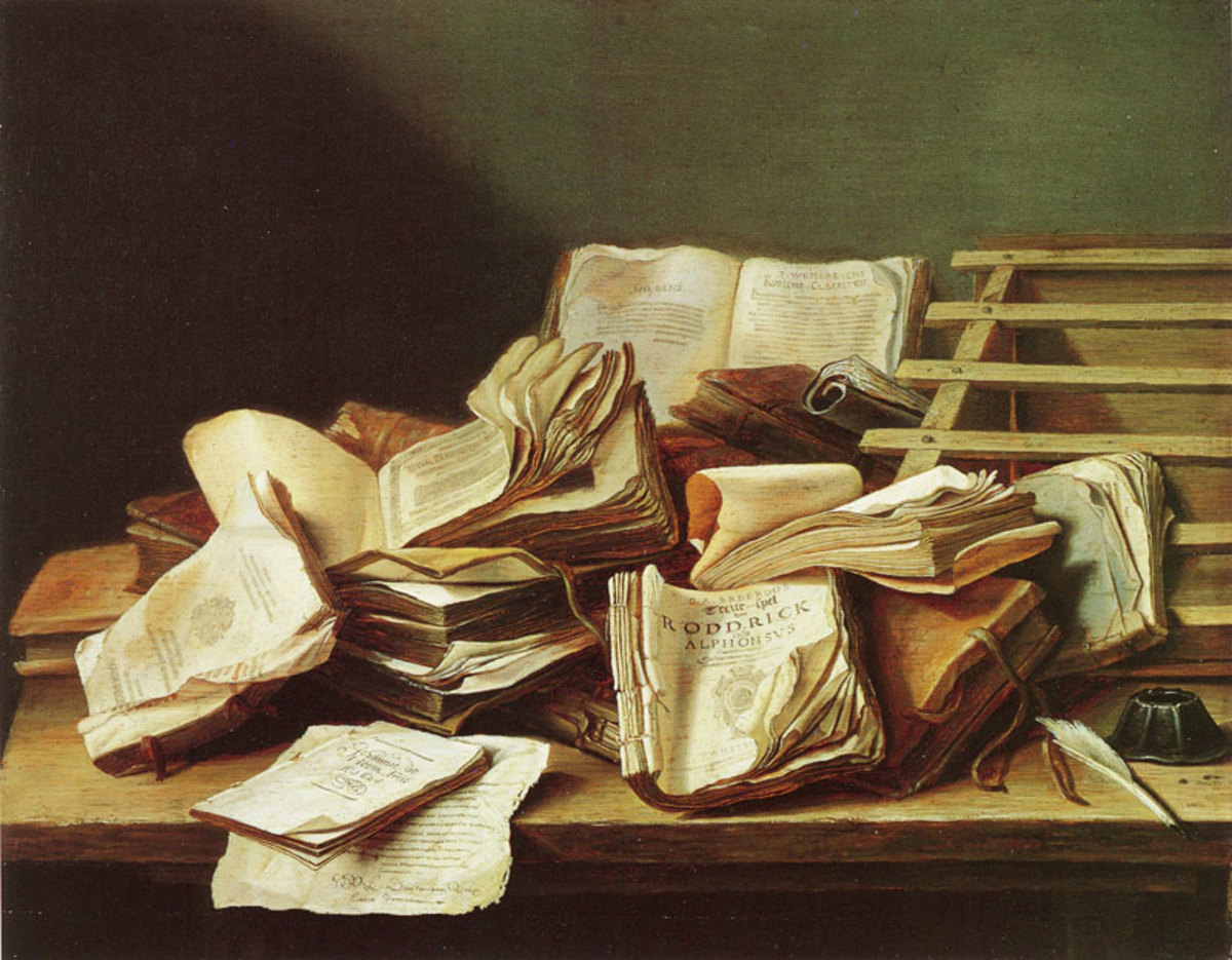'Books and Phamphlets' by Jan Davidzoon de Heem
