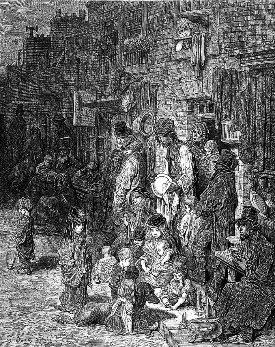 Disease and death were constant companions for the people who lived in the overcrowded slums of London.