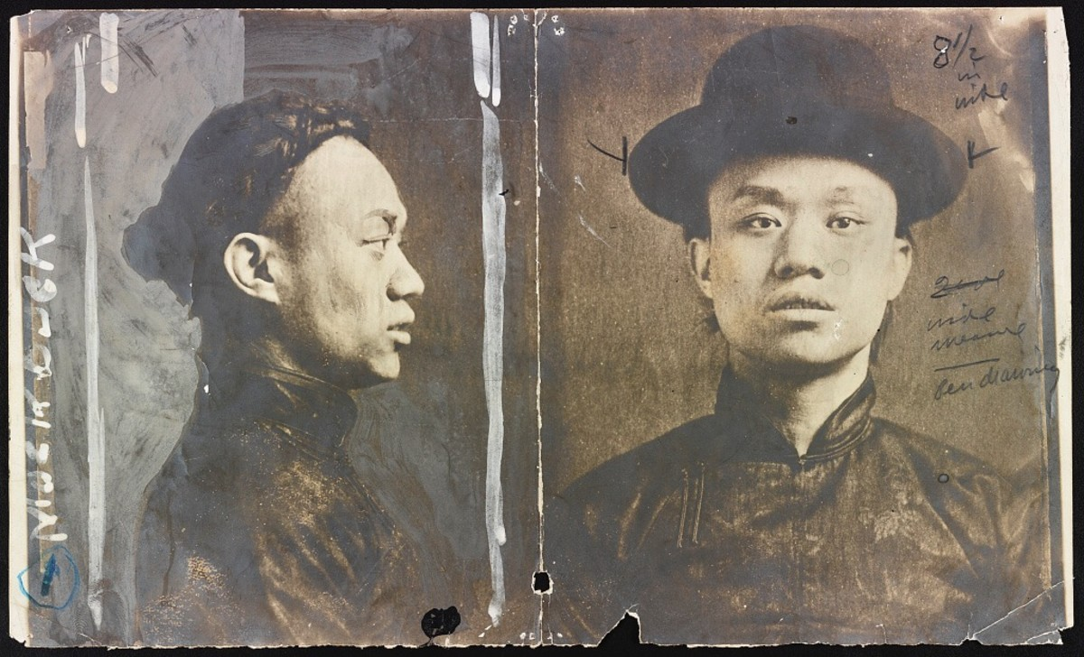 Mock Duck was leader of the Hip Sing tong. He was a man noted for high intelligence and vicious brutality.