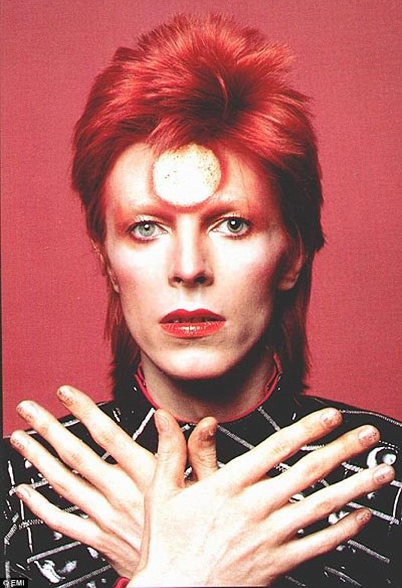 Ziggy Stardust at the height of his early fame.