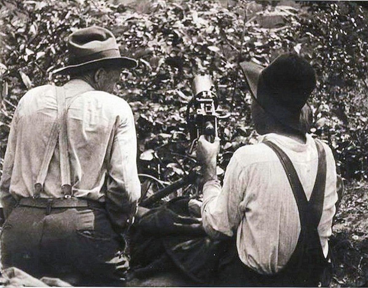 Coal miners man a machine gun during the Battle of Blair Mountain.