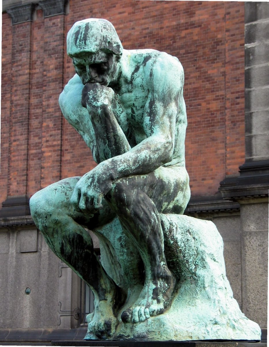 The Thinker is pondering their future.