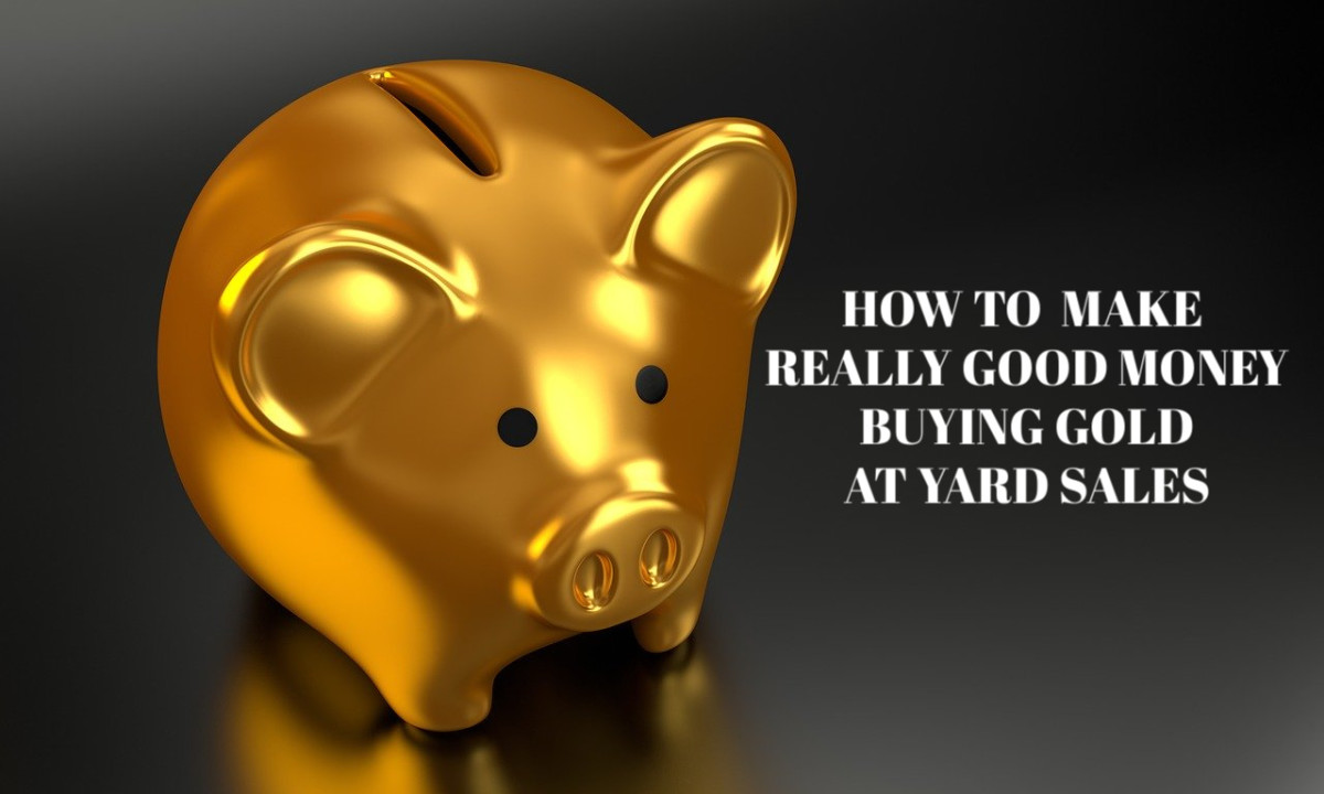 Buying gold and silver at yard sales and then reselling it for profit is an excellent way to earn money.