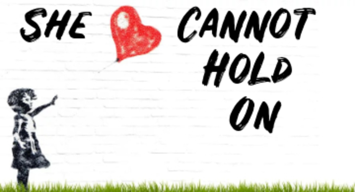 Poem: She Cannot Hold On