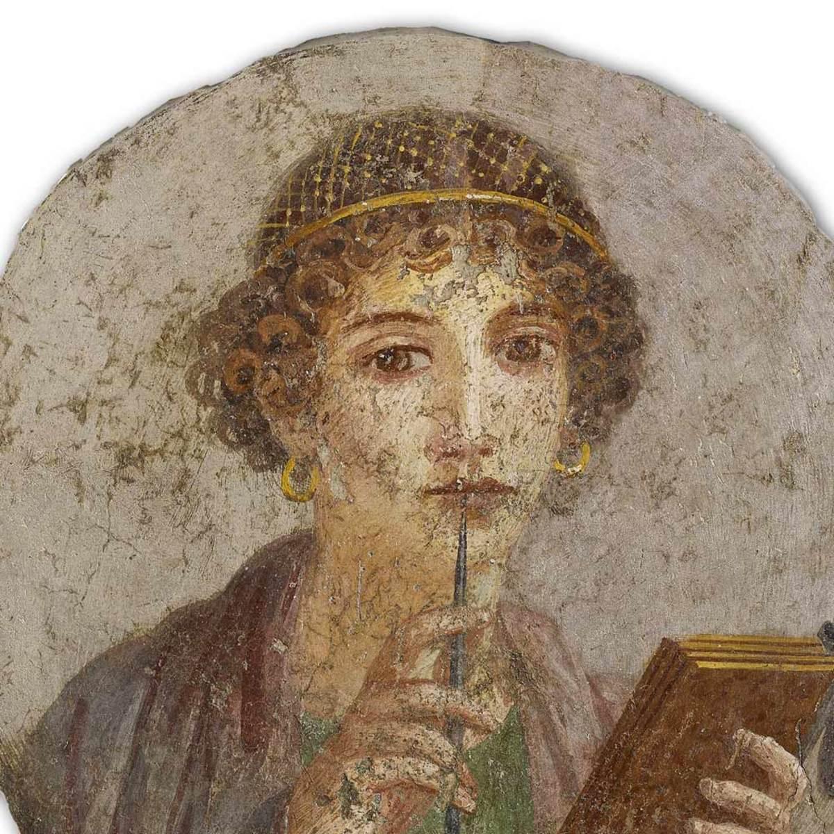 A Poetess. Roman Art