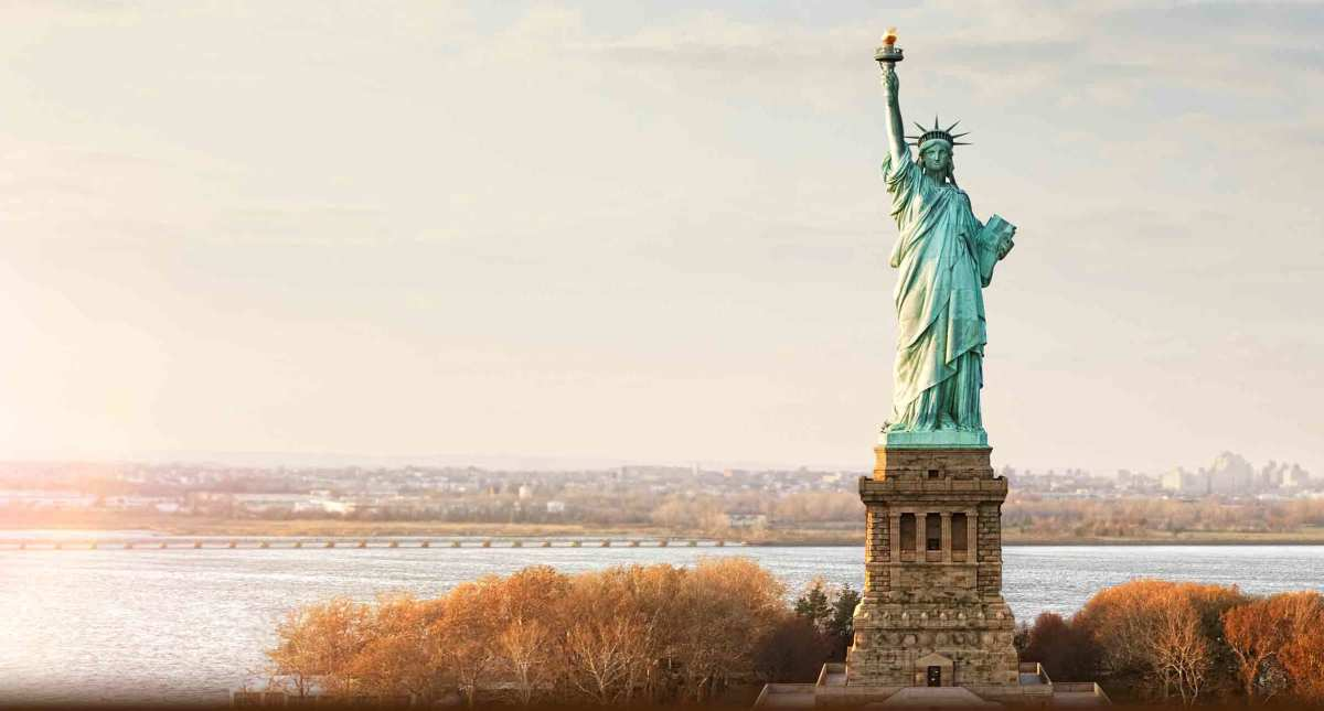 """Send these, the homeless, tempest-tost to me, I lift my lamp beside the golden door! - Emma Lazarus, """"The New Colossus"""""""