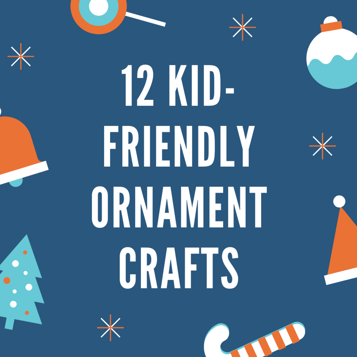 Use common craft supplies to make a dozen decorations for your tree.