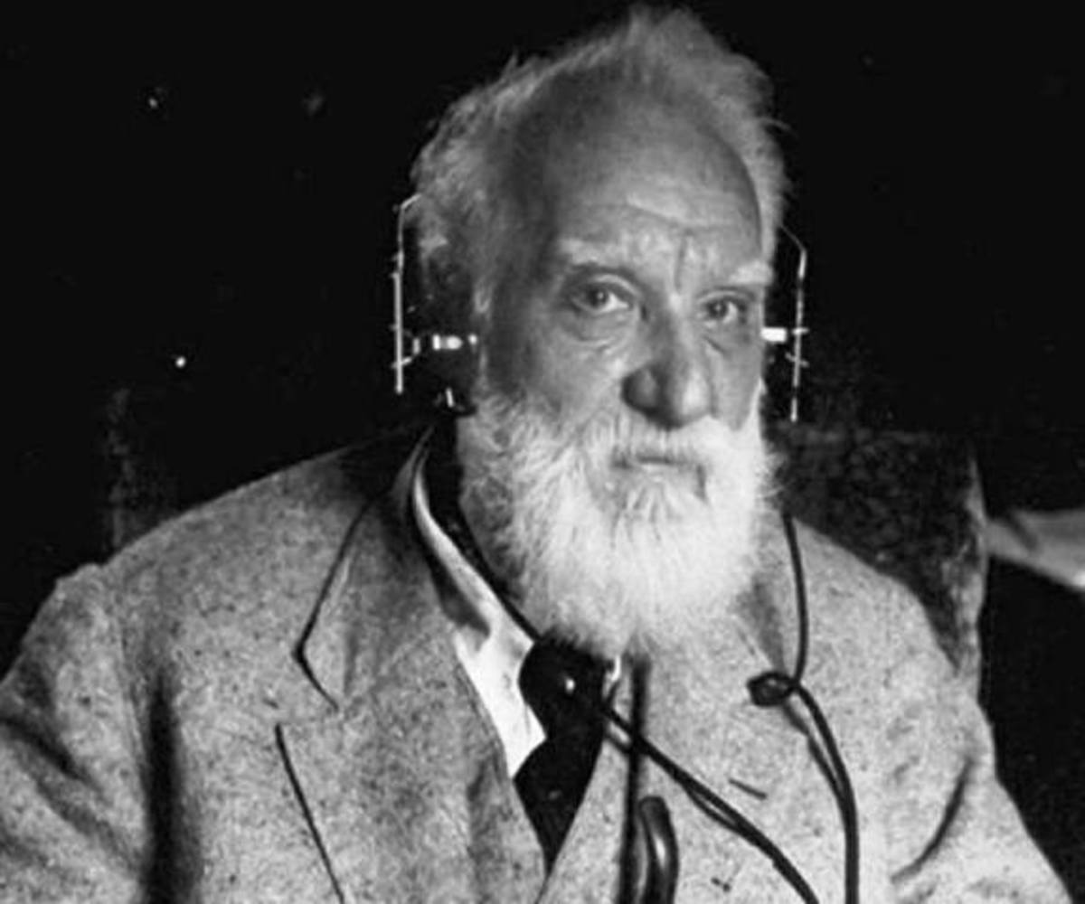 Alexander Graham Bell, the inventor of the telephone.