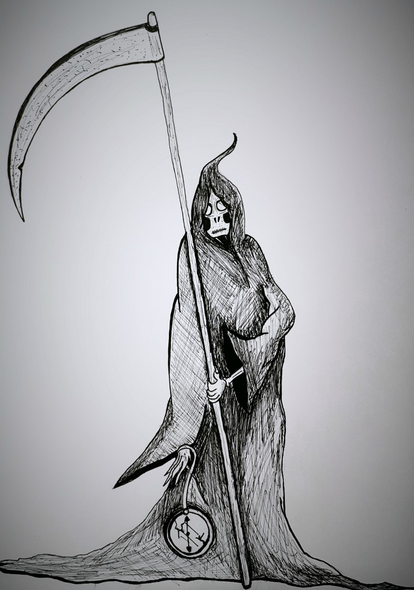 Time Is A Grim Reaper - ink