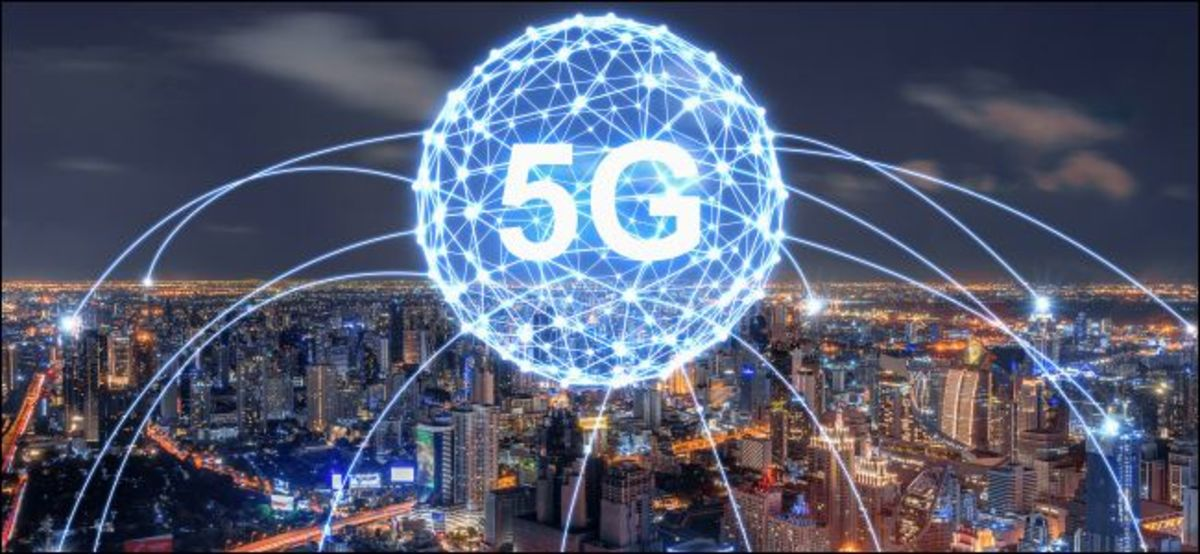 5G will be delivered from both numerous small towers on the ground and from satellites in space.