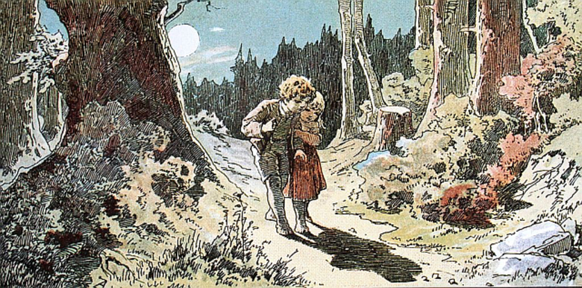 Hansel and Gretel in the Forest