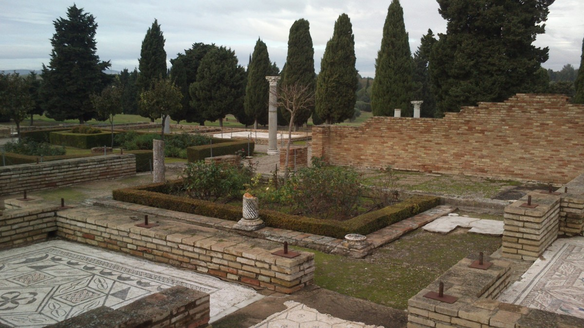 Italica, a Roman archaeological precinct in Santiponce, outside of Seville, Spain.