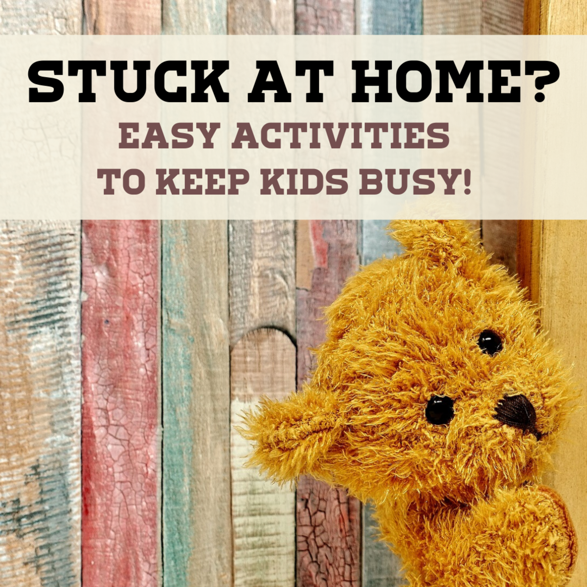 Get a bunch of ideas for easy, inexpensive activities you can do around the house when your kids are stuck at home due to social distancing or any other restriction. Playing stuffed animal hide and seek is just one idea!