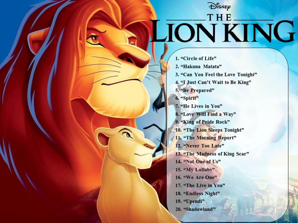 The Lion King Songs List