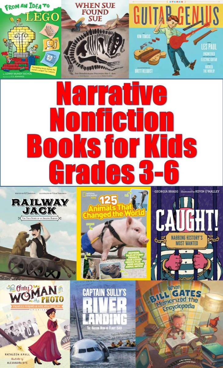 Discover some great narrative nonfiction books for kids, Grades 3-6.