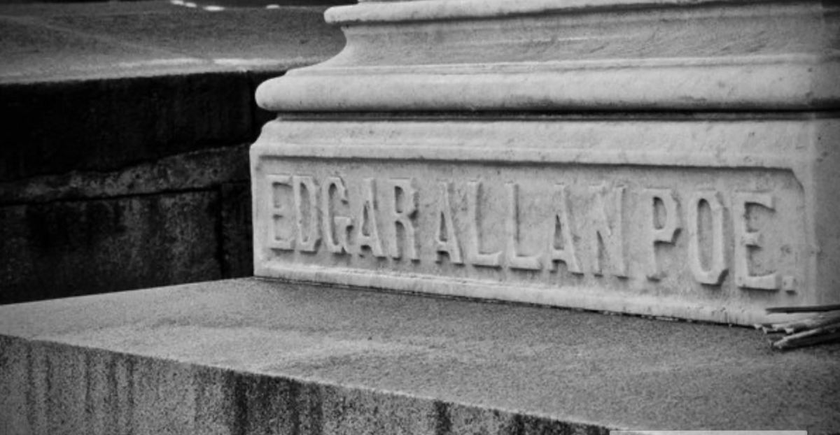 Edgar Allan Poe's grave in Baltimore, discovered on MapQuest.