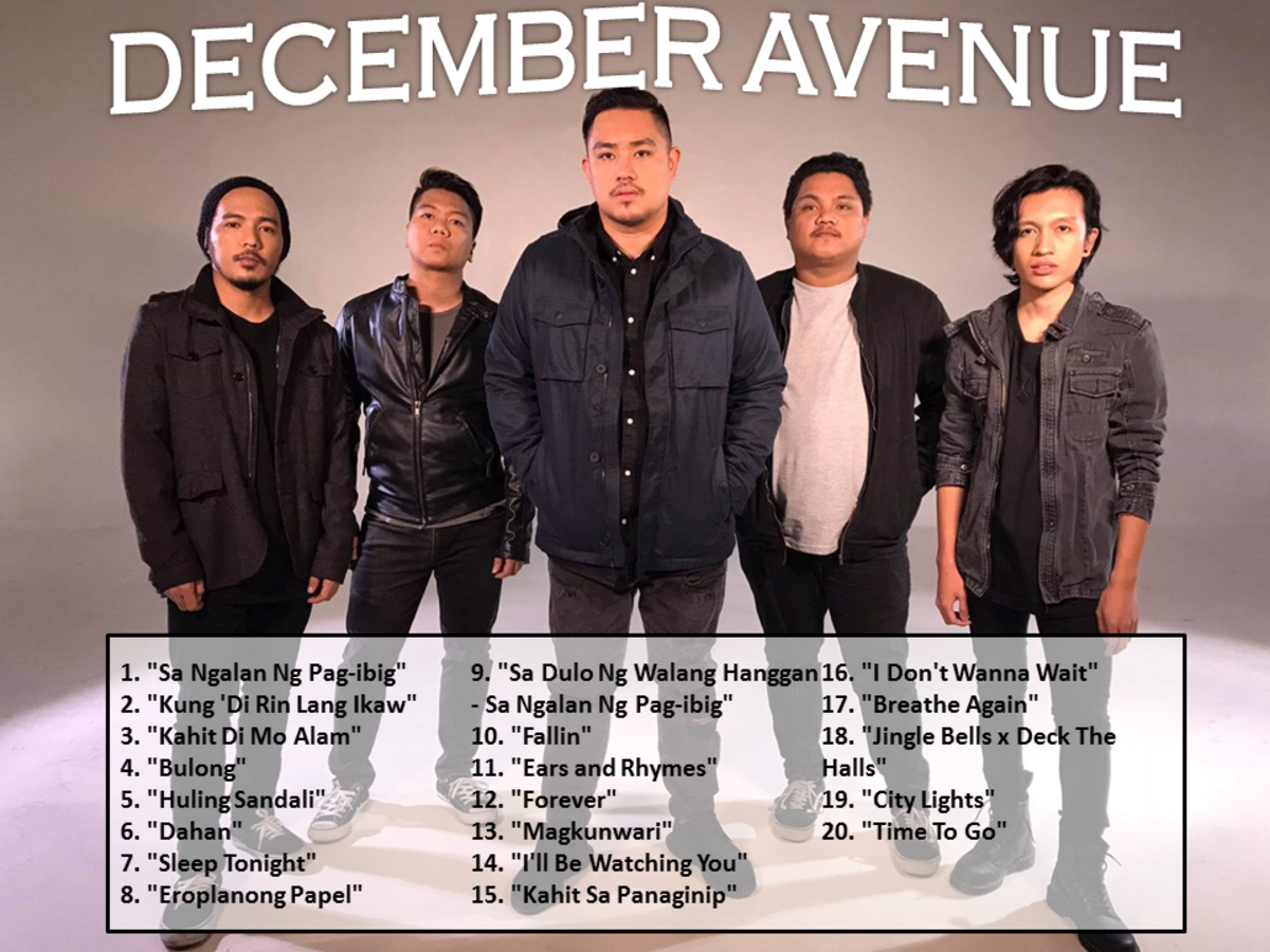 December Avenue Songs: 20 Best December Avenue Songs (OPM Songs) of All Time