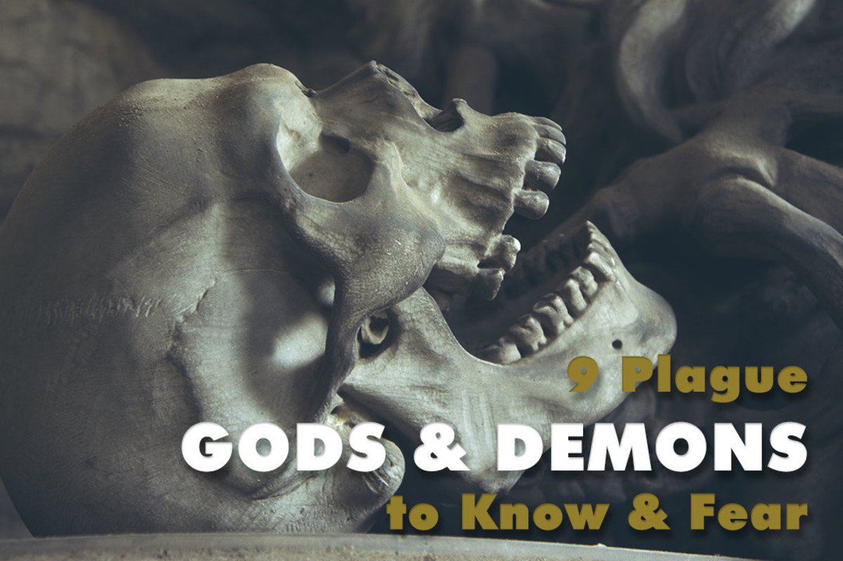 9 deadly plague gods and demons from world mythology.