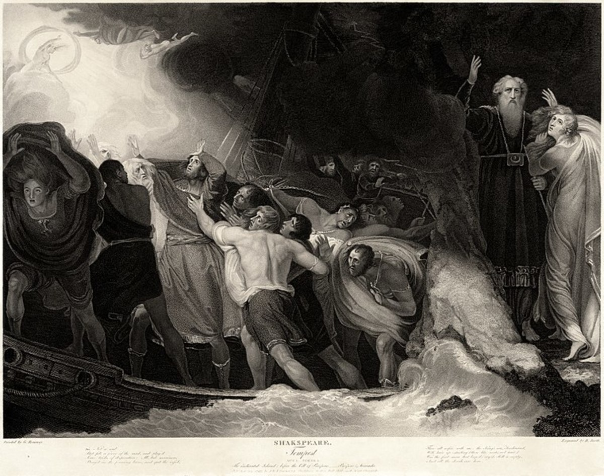 Act 1, Scene 1, of The Tempest by William Shakespeare.