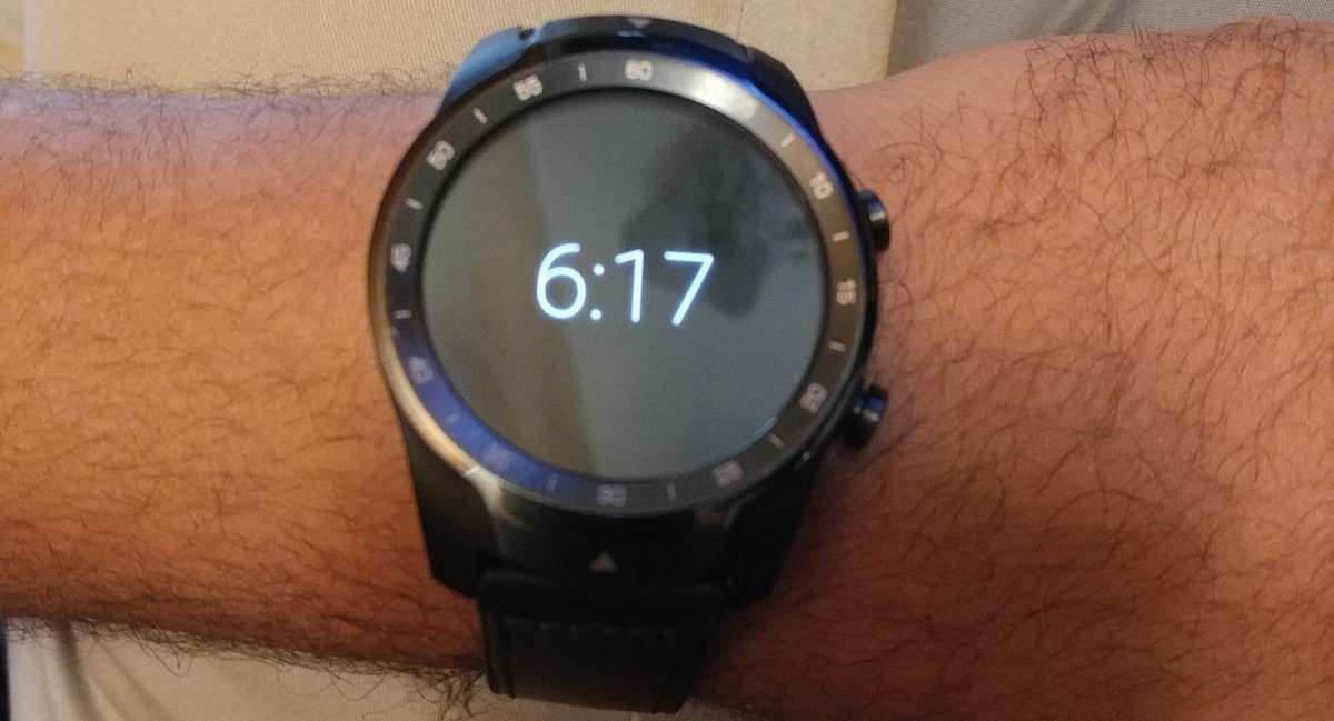 This is what the TicWatch Pro looks like on my arm.