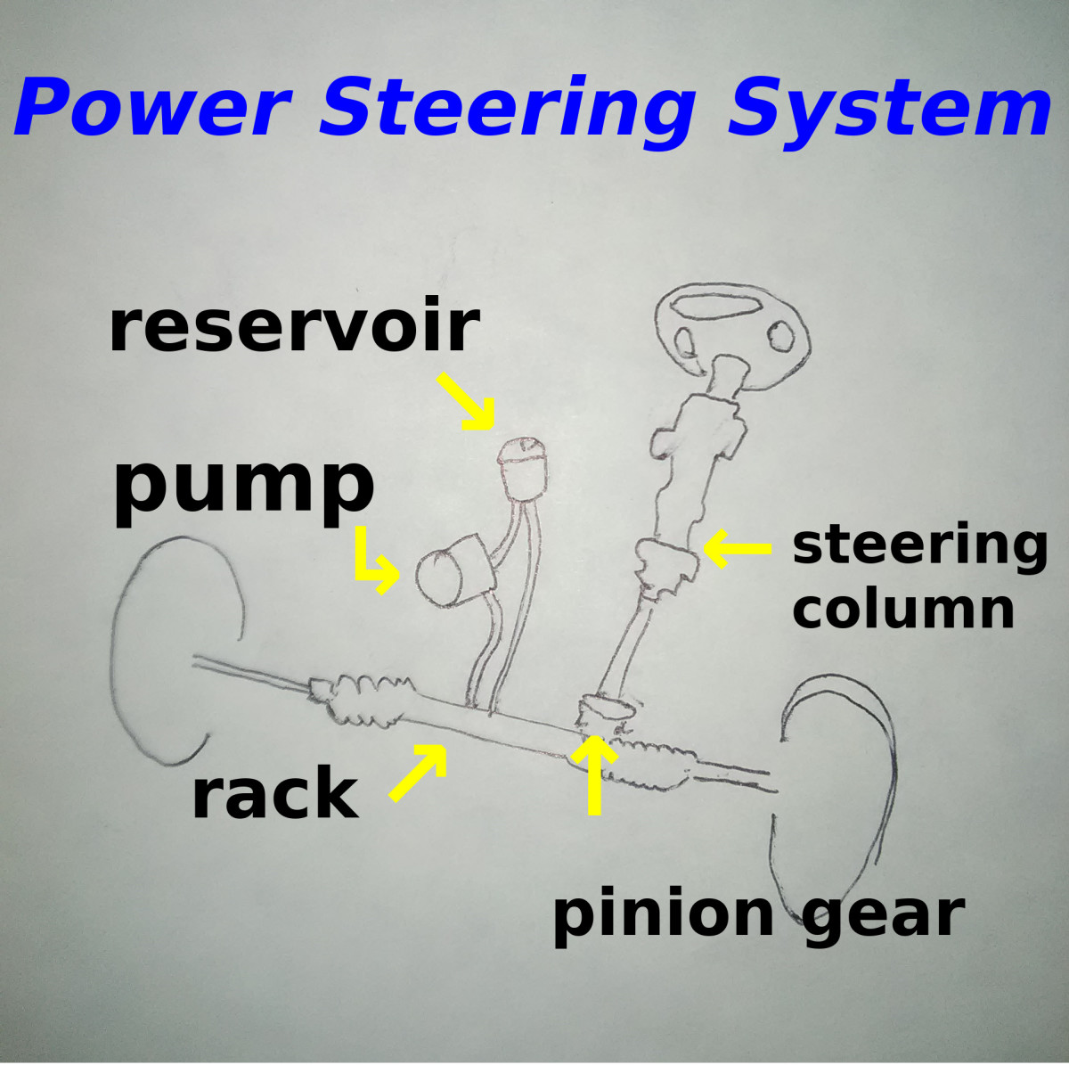 Hoses, seals and steering pump are common leaking points in the power steering system.