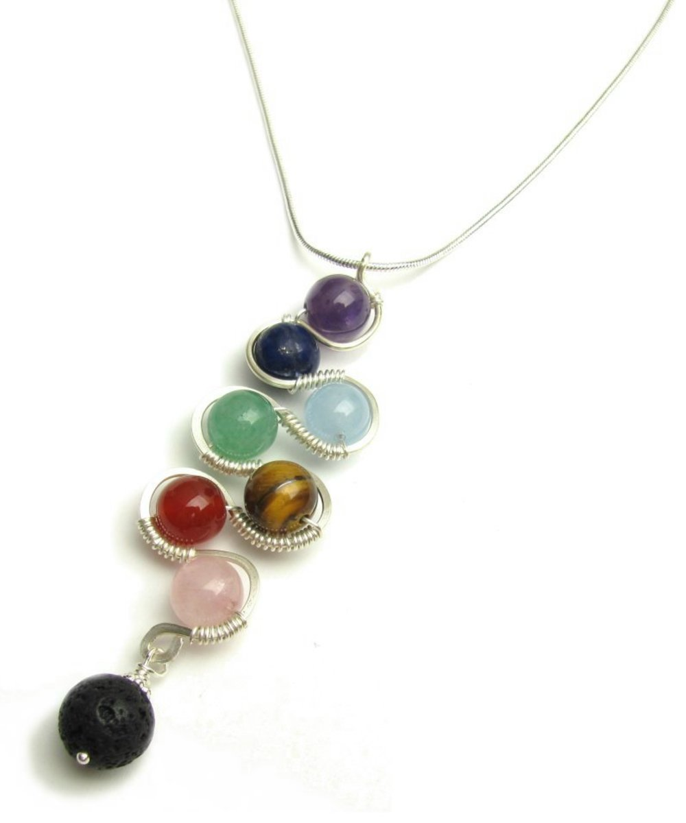 DIY Wired Gemstone Chakra Pendant (Jewellery Tutorial)
