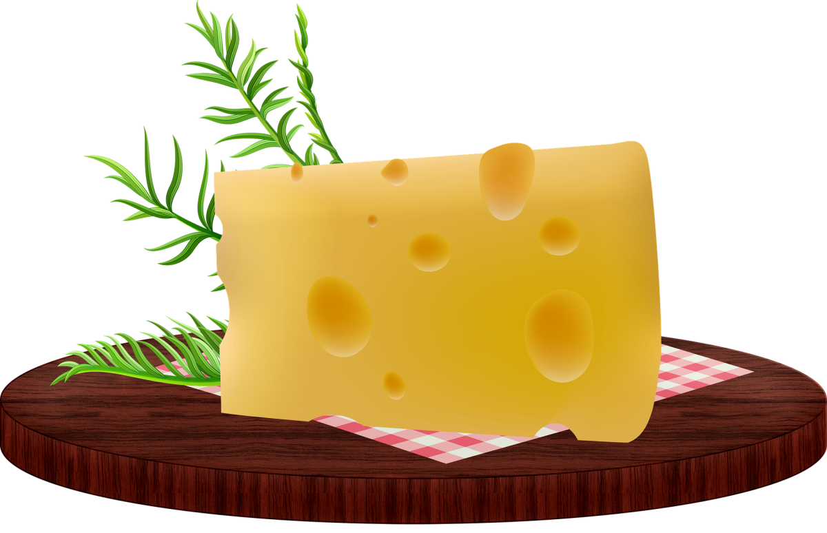 Cheese: Image by Annalise Batista from Pixabay