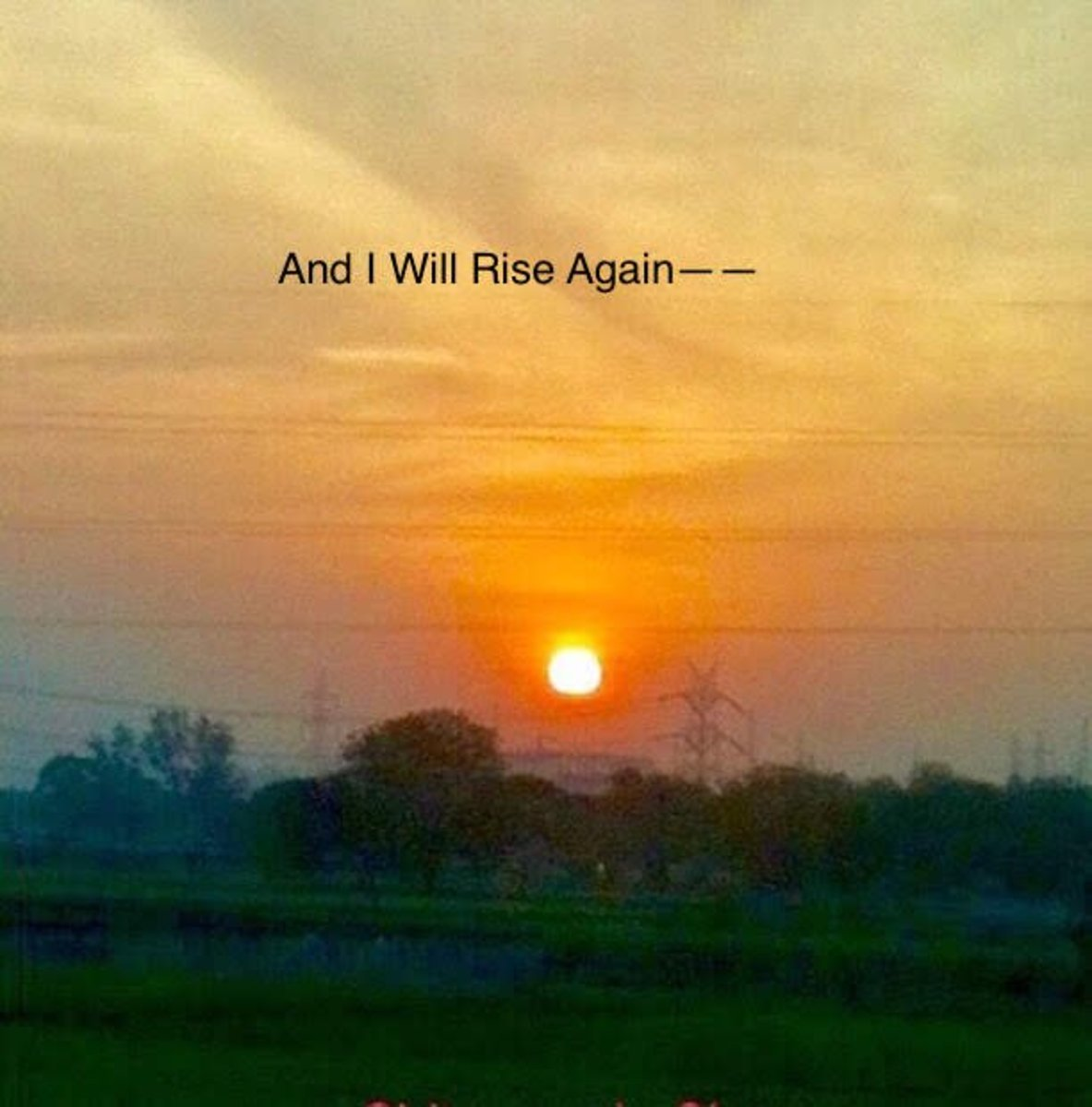 And I Will Rise Again—Poem