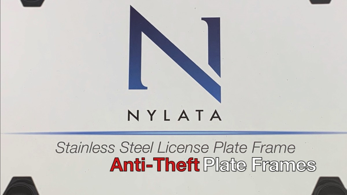 These are anti-theft plate frames.