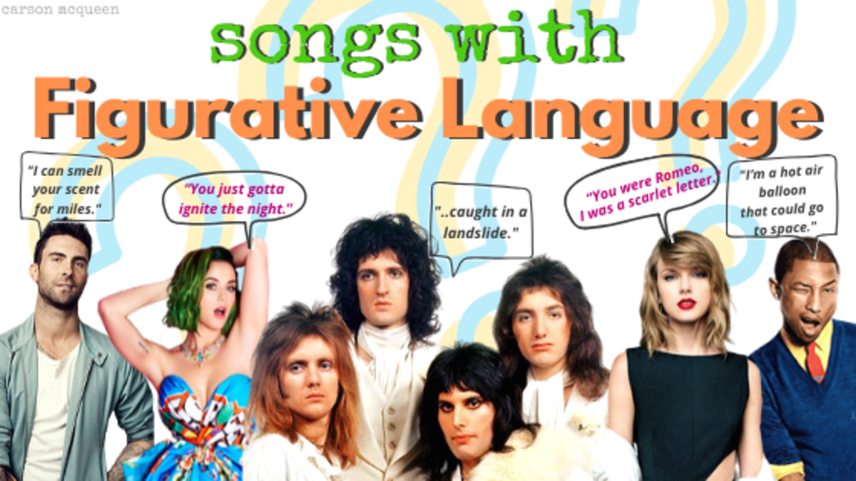 Songs with figurative language are fun to decipher, so let's put our thinking caps on and dig in.