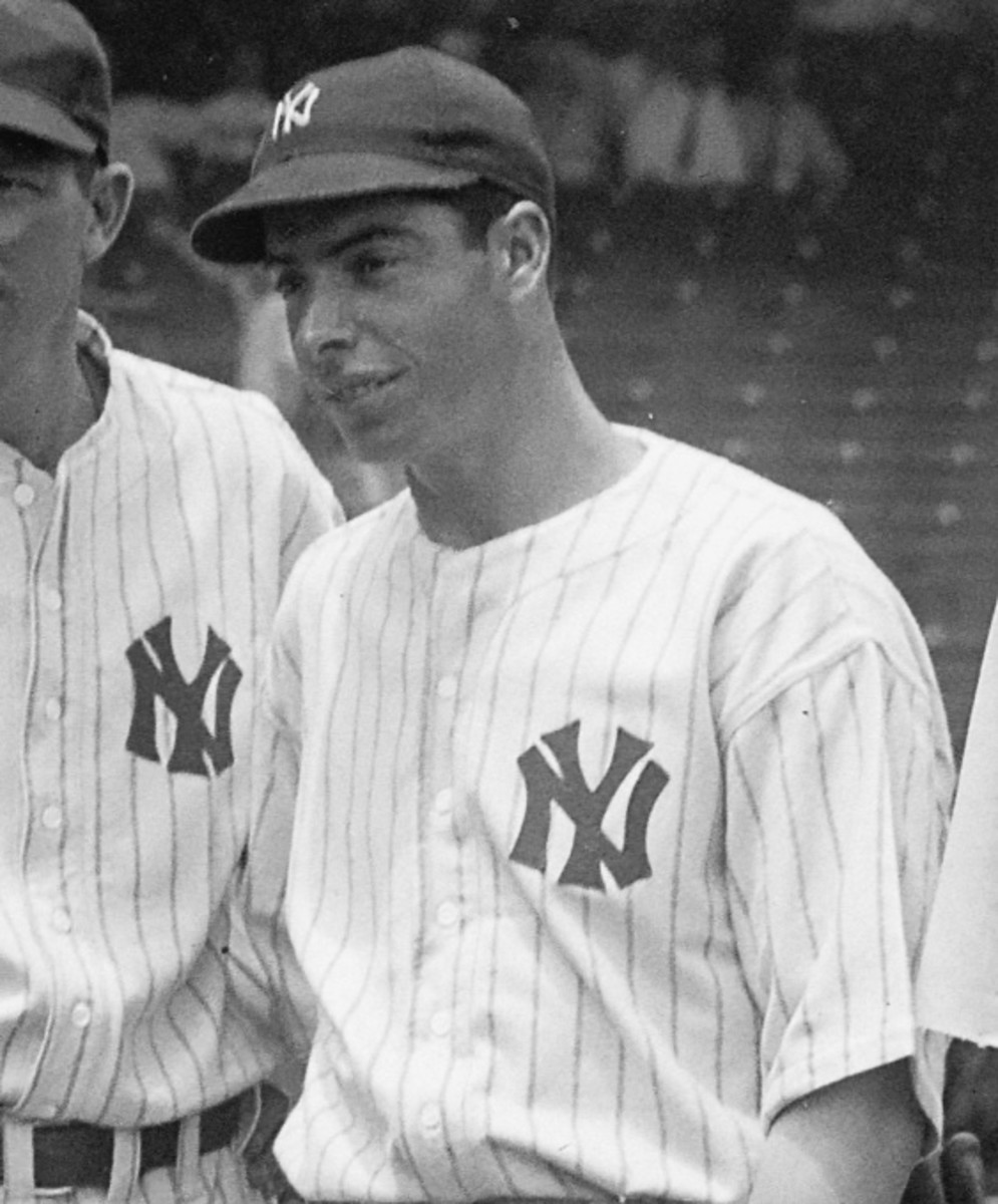 Joe DiMaggio in 1937, four years before he set his unbreakable record.
