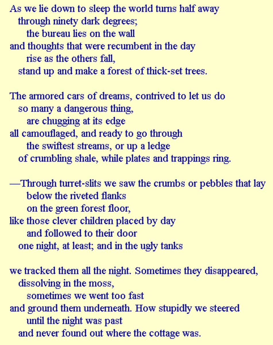 Analysis of the Poem 'Sleeping Standing Up' by Elizabeth Bishop