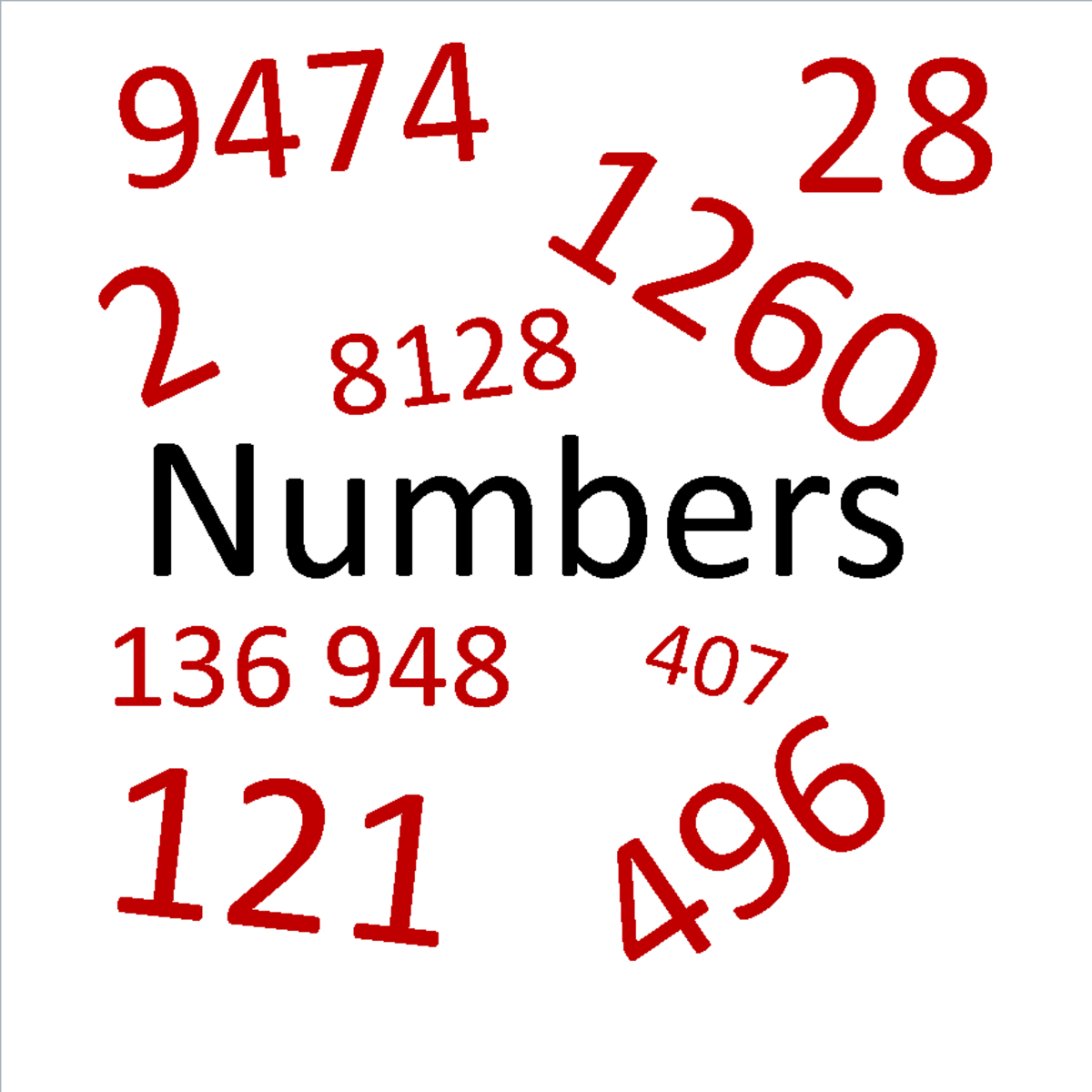 Four Interesting Types of Mathematical Numbers