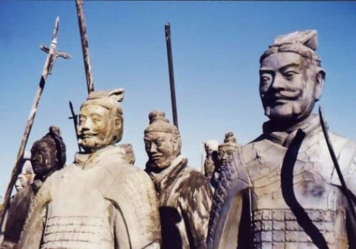 Each face of the terracotta army was different.