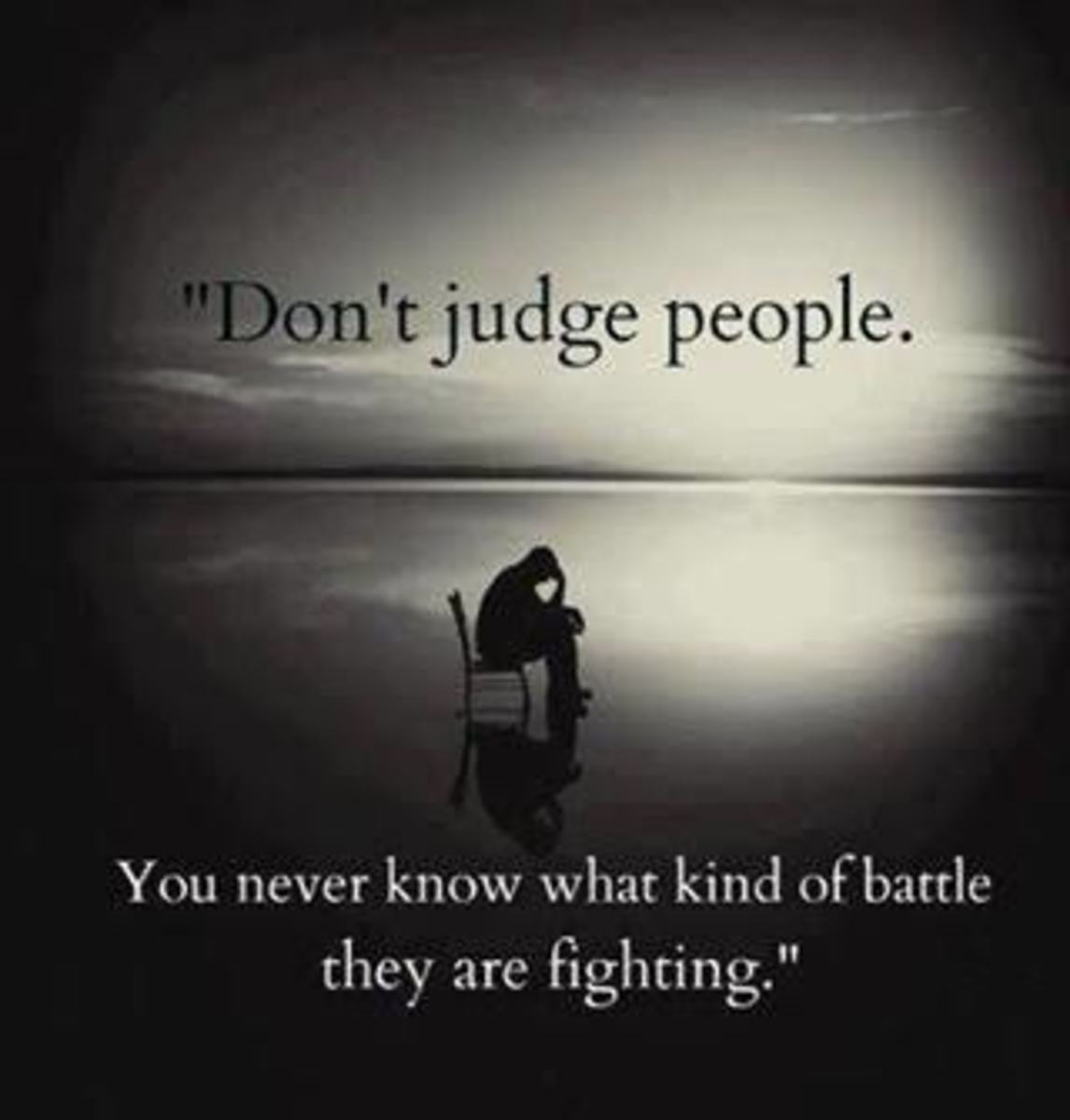 Judge Me Not on What You See