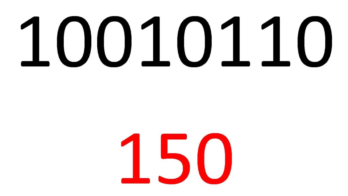 One Hundred and Fifty in Binary and Decimal