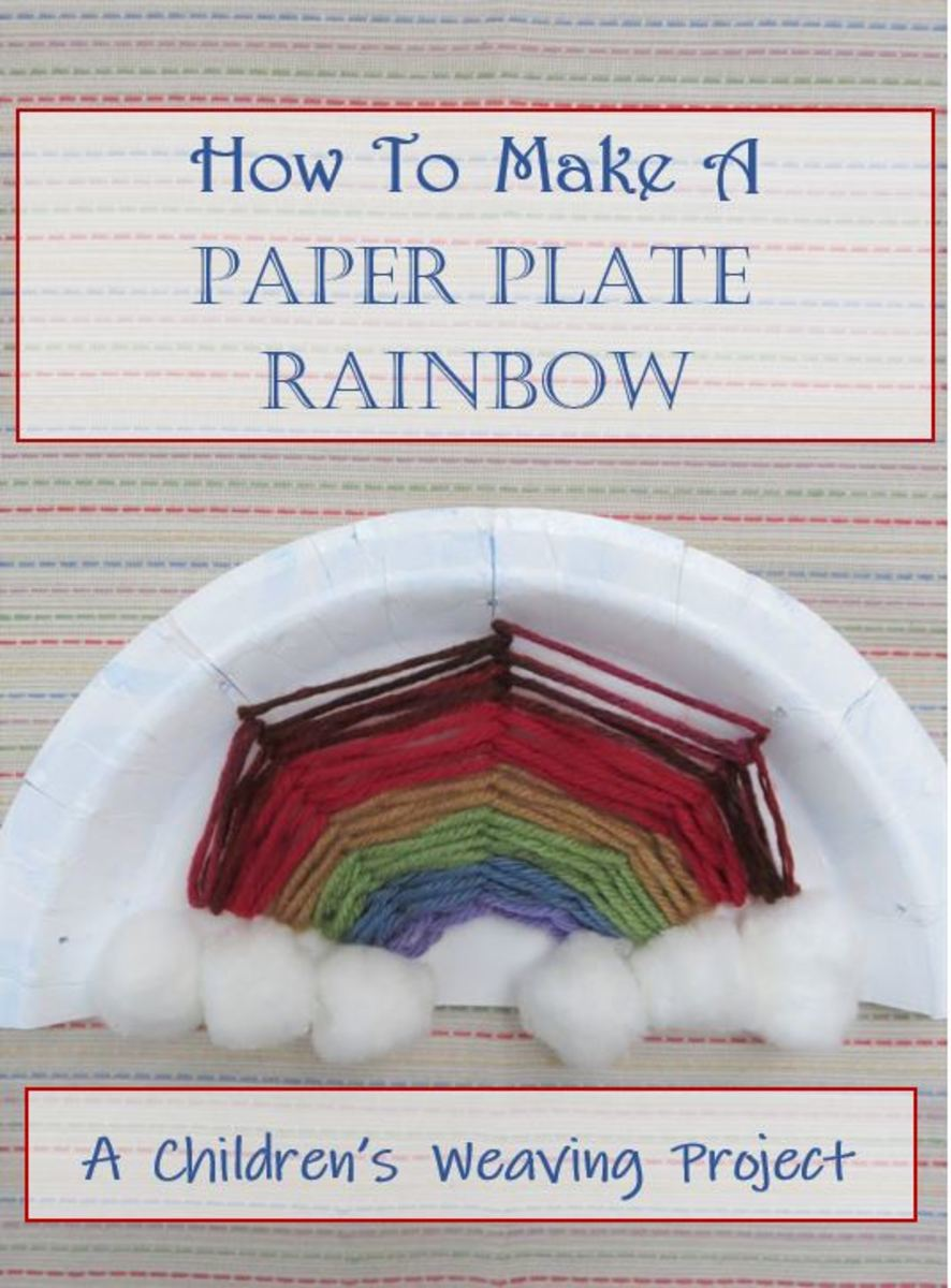 How to Make a Paper Plate Rainbow With Yarn:  A Children's Weaving Project