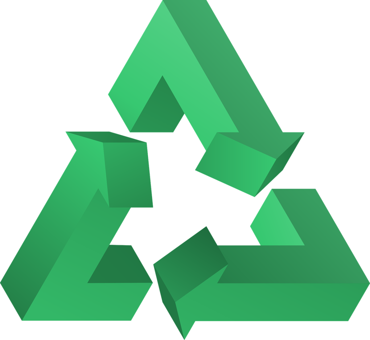 The infamous recycle triangle