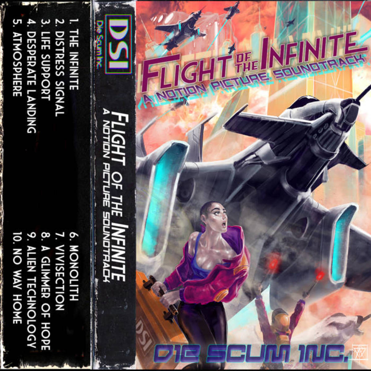 "Album artwork for ""Flight of the Infinite"" by Die Scum Inc."