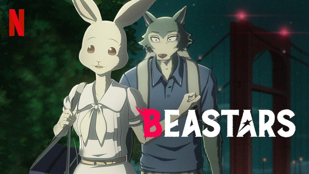 The Netflix banner for the Beastars anime.