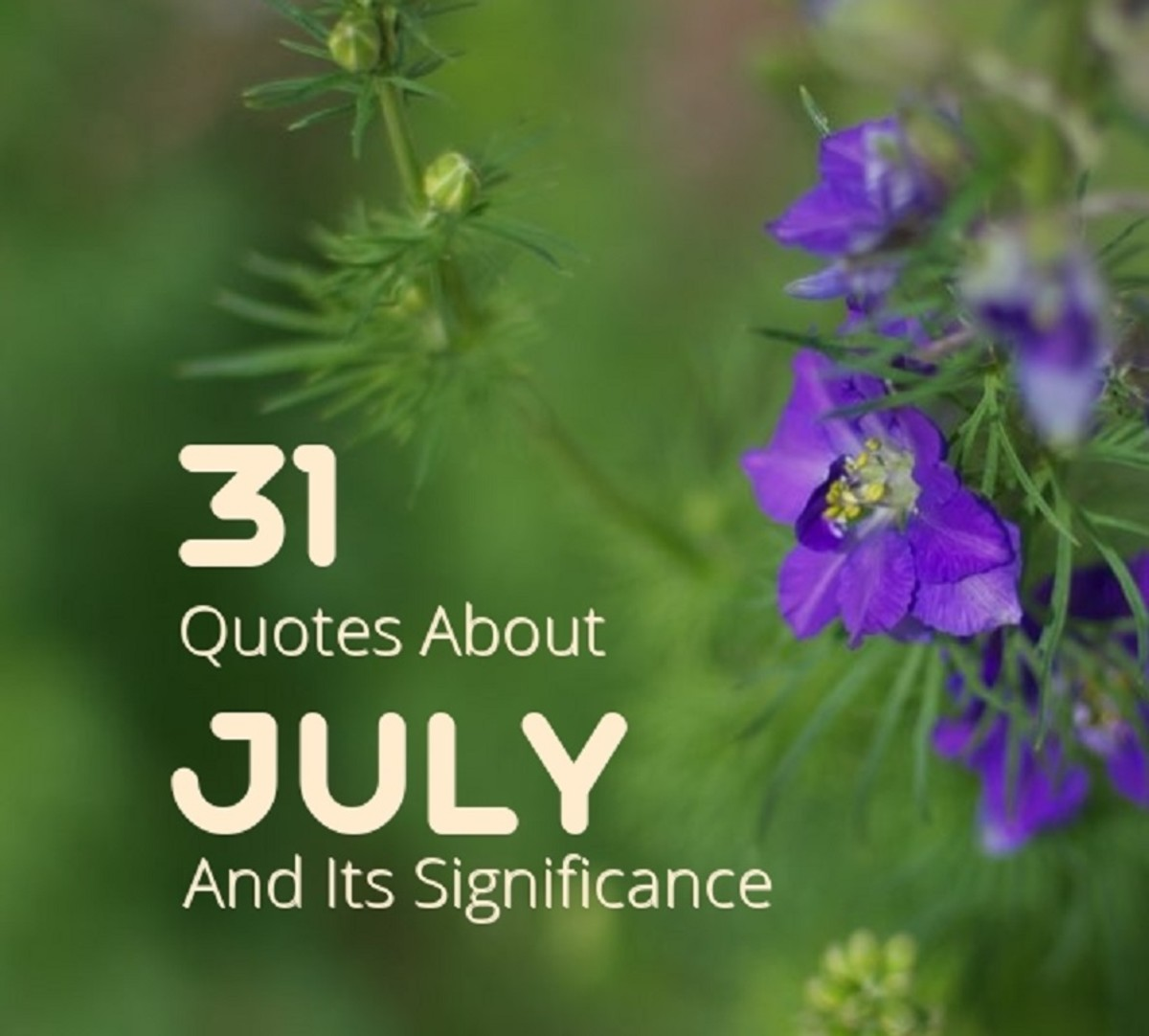 31 Quotes About July and Its Significance