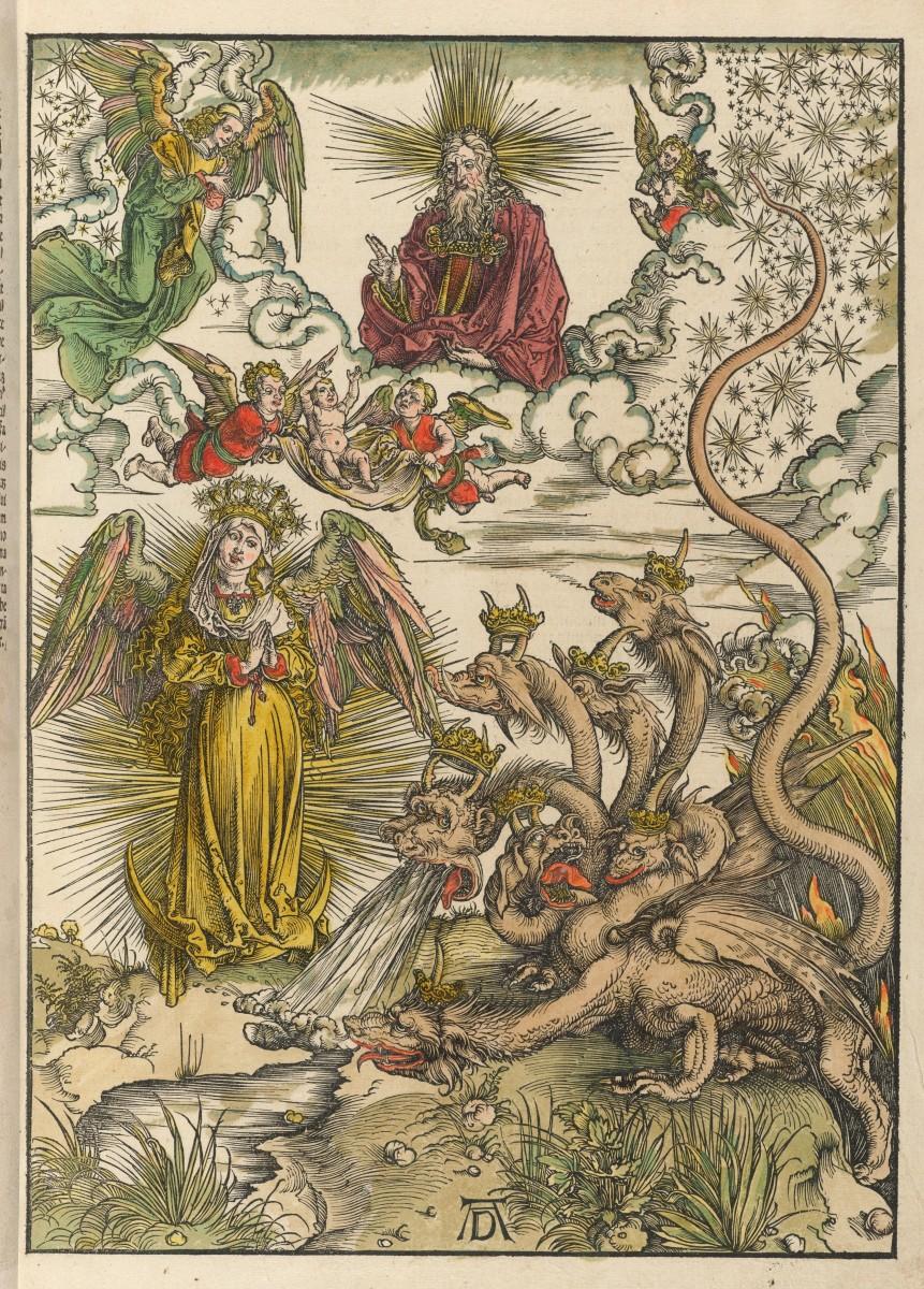 The Woman of the Apocalypse and the Seven-headed Dragon; Albrecht Dürer (1471-1528)