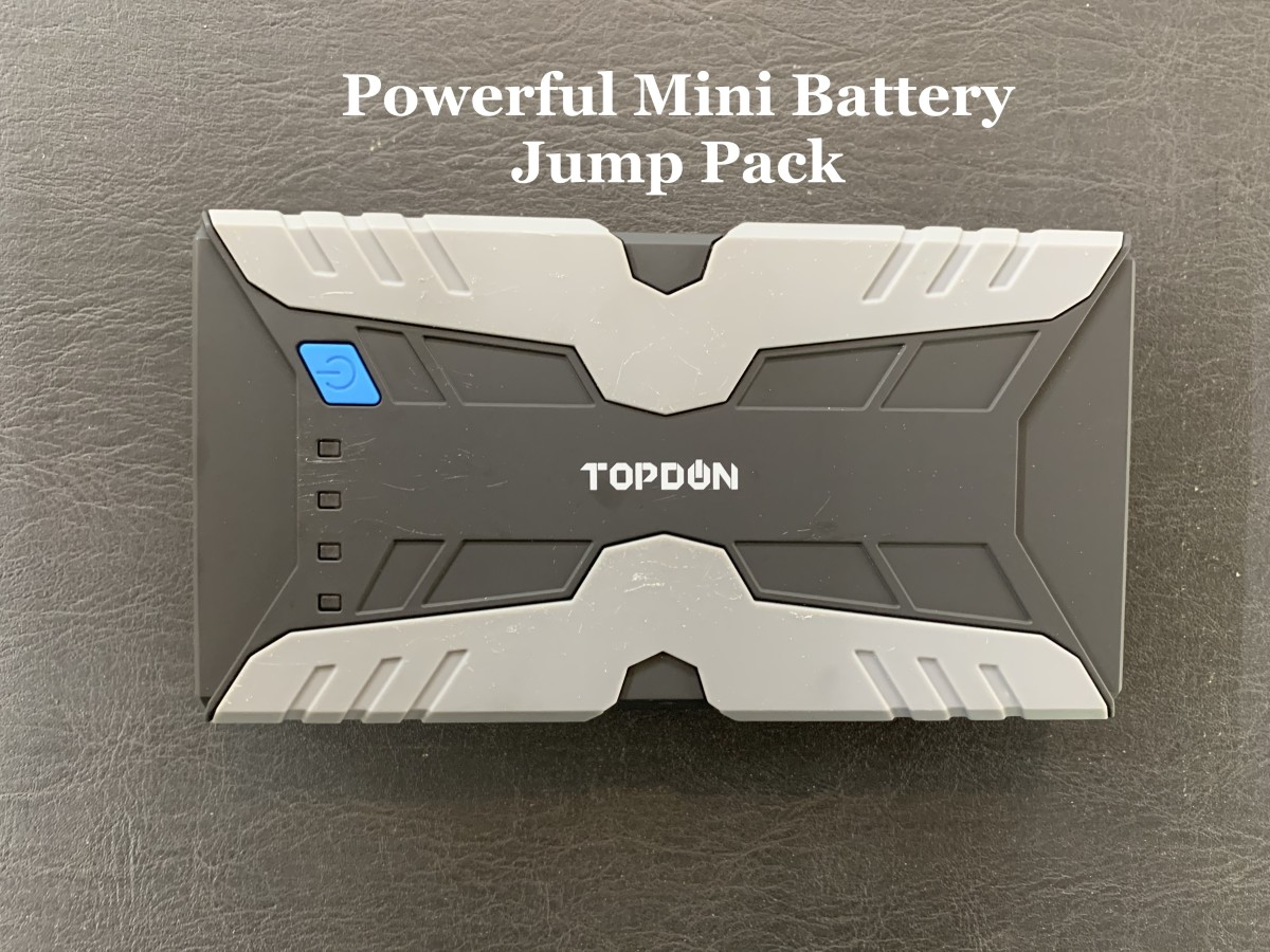 A small but powerful battery jump pack that can jumpstart your car and also charge cell phones, cameras, and laptops.