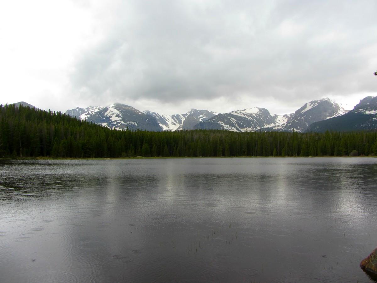 Bierstadt Lake in the rain