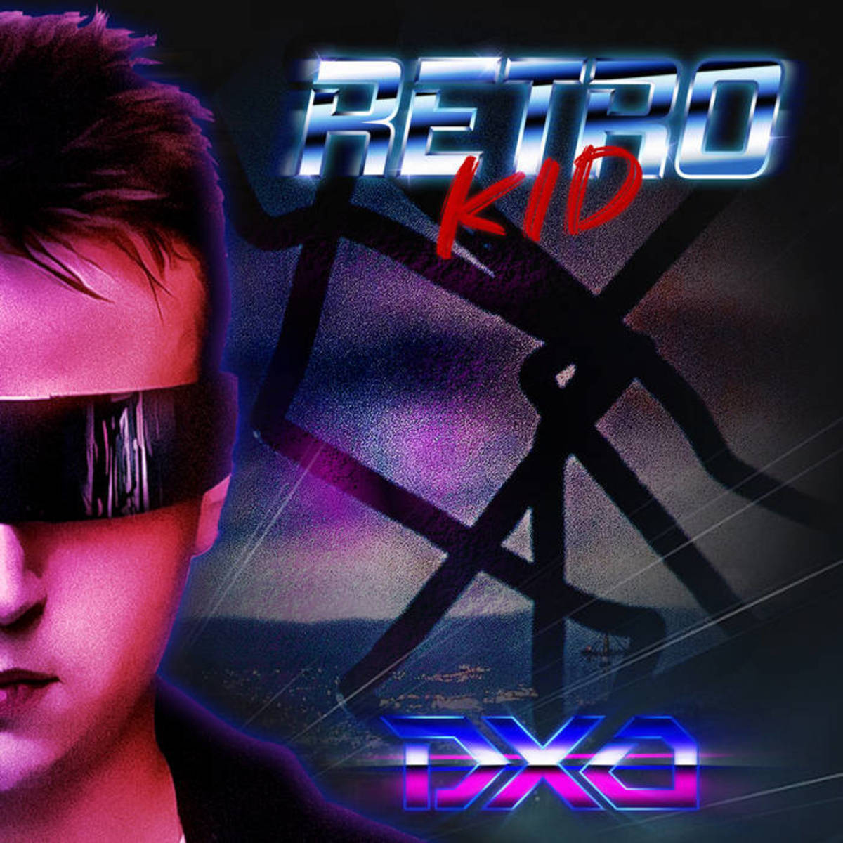 "EP artwork for ""Retro Kid,"" by DXO"