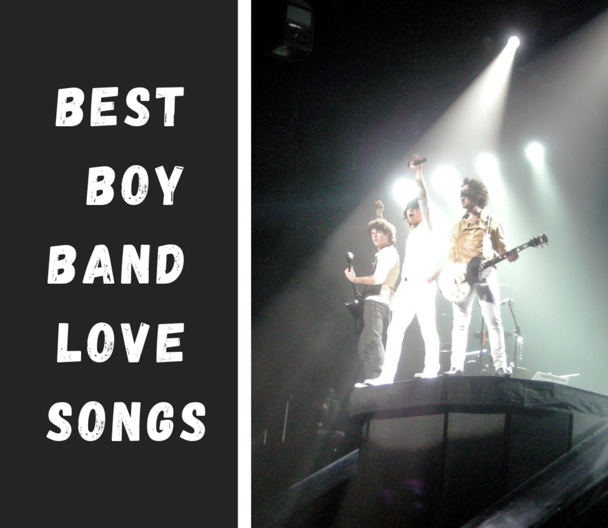 Jonas Brothers are described as a pop boy band.