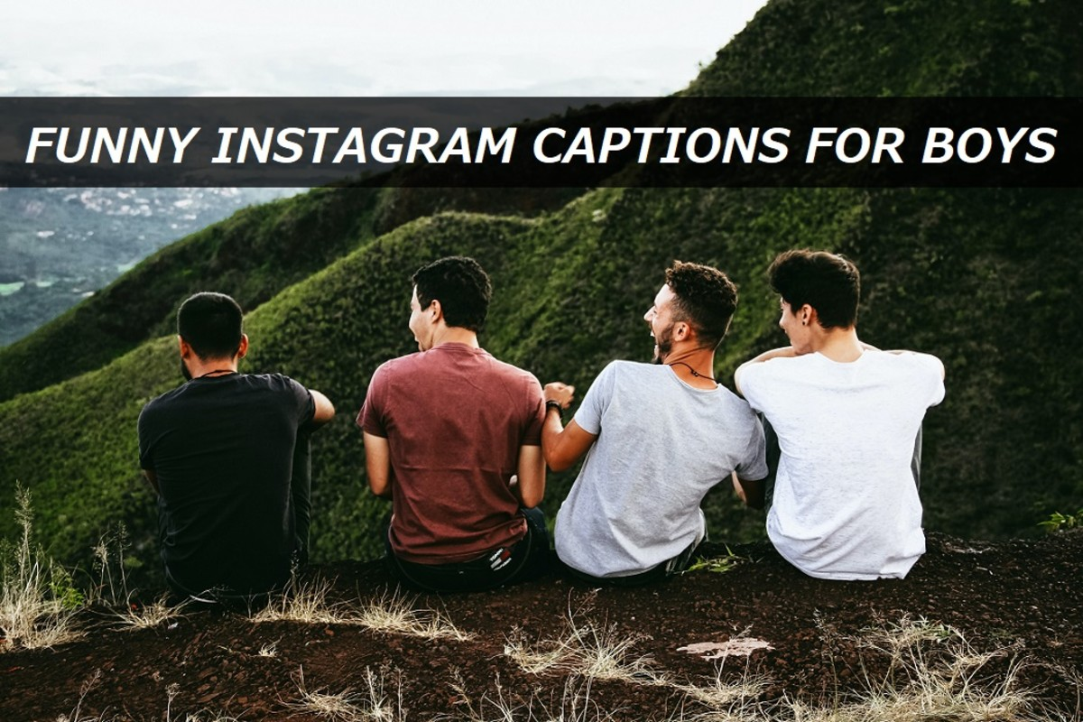 Funny Instagram Captions for Boys